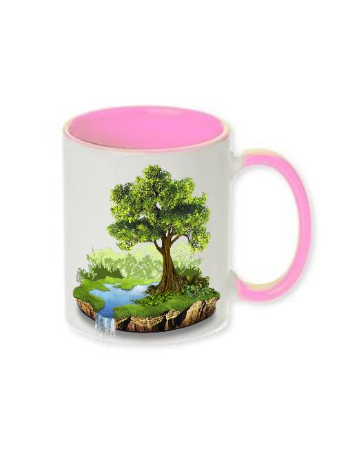 cana alba cu interior si maner roz model