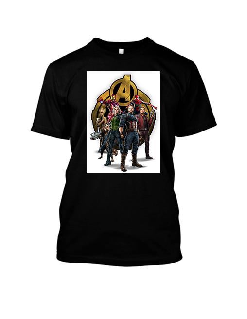 tricou negru avengers
